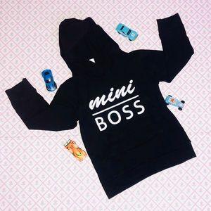 Black Mini Boss Sweater Hoodie Size 2T